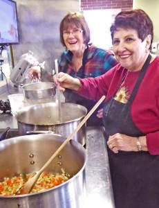 Carol+Pat C w soup